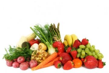 מבחר של פירות וירקות