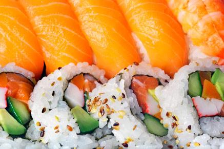 ארוחת סושי עלולה להכיל מאות קלוריות רבות