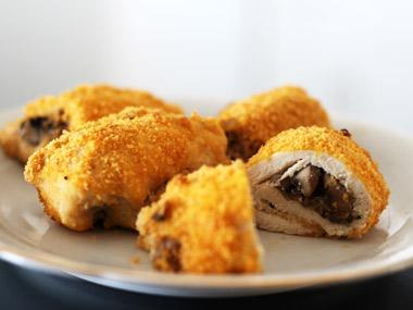 שניצל ממולא בפטריות אפוי בתנור
