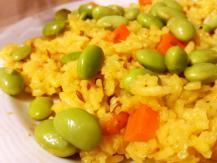 אורז עם אדממה, גזר וזרעי כמון