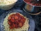 ספגטי עם נקניקיות
