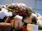 סלט עשבי תיבול, ערמונים וגבינת פטה עיזים