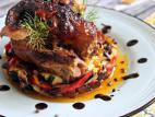 צלי עוף וירקות בתנור