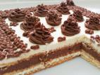 עוגת ביסקוויטים פשוטה עם קרם וניל ושוקולד