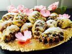 עוגיות במילוי אגוזים בדבש וצימוקים