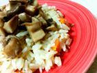 אורז בסמטי עם זרעי כמון, גזר ופטריות