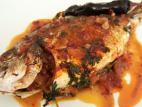דג דניס שלם בתנור