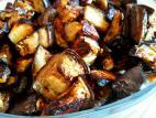 קוביות חצילים אפויות בתנור