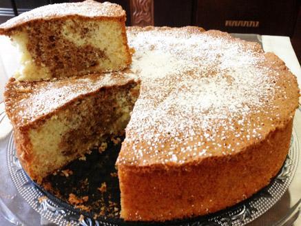 עוגת שיש תפוחים ואגוזים