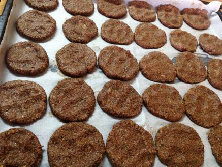 עוגיות עדשים שחורות בטעם שוקולד