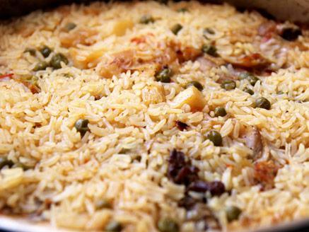 עוף בתנור עם אורז