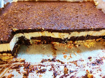 עוגת גלידה שוקו-וניל פרווה
