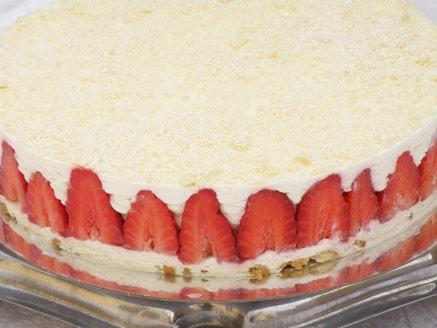עוגת גבינה ושוקולד לבן ללא אפייה