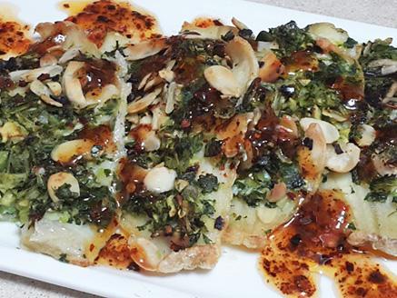 פילה אמנון בתנור בציפוי ירק