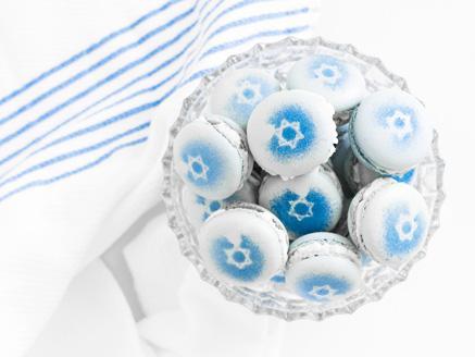 מקרון שמנת כחול לבן