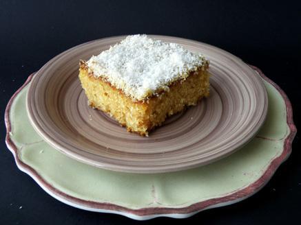 עוגת סולת, קוקוס ותפוזים