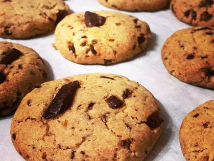 עוגיות נמר טבעוניות (שוקולד צ`יפס)