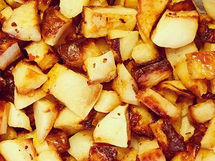 תפוחי אדמה אפויים בתנור עם תבלין טוסקנה