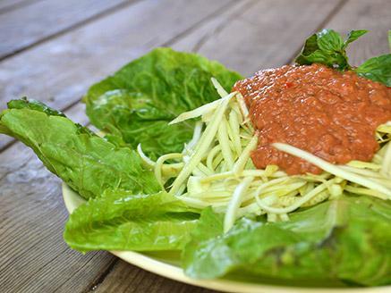 ספגטי קישואים טבעונאי