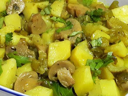 צלי תפוחי אדמה ופטריות