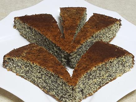 עוגת פרג ללא גלוטן וללא תוספת סוכר