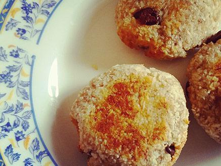 עוגיות בננה-קוקוס עם שוקולד צ`יפס