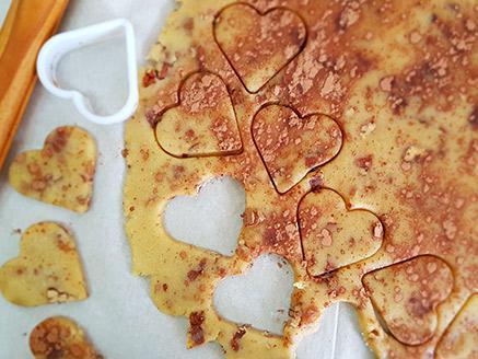 עוגיות שיש דלות בפחמימות בטעם וניל