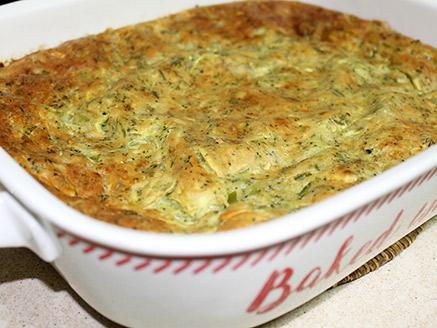 פשטידת קישואים וברוקולי עם גבינות