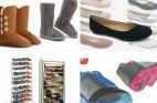שלושה זוגות נעליים לנשים + ארון לאחסון נעליים