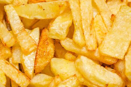 כמות שמן אדירה יכולה להיספג בצ'יפס אם לא מטגנים נכון...