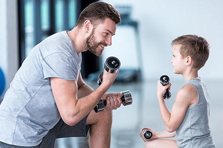 אפשר כמובן להתאמן ביחד - בכל גיל (: