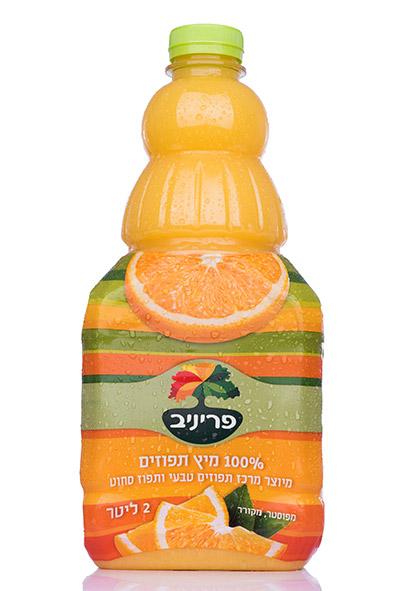 100% מיץ תפוזים - מיוצר מרכז תפוזים טבעי ותפוז סחוט