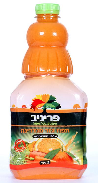 תפוז גזר מנדרינה - 100% סחוט טבעי