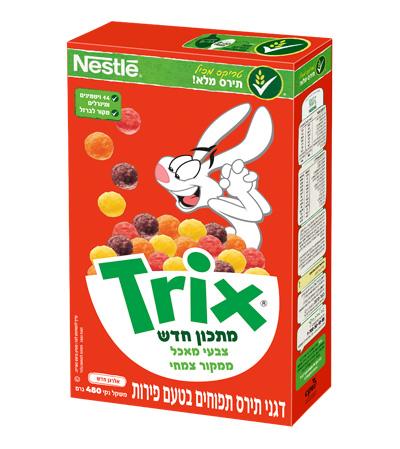 Trix פירות - דגני תירס תפוחים בטעם פירות