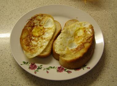 לחם מטוגן בביצה