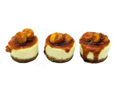 עוגות גבינה אישיות עם בננות מקורמלות