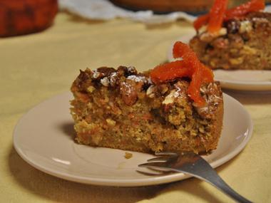 עוגת גזר, קראנץ` אגוזים וקינמון
