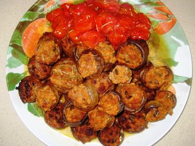 פטריות ממולאות בשר