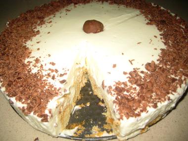 עוגת בישקוטים ללא אפייה
