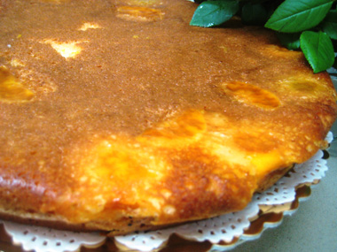 עוגת אפרסקים פרווה