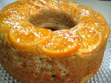 עוגת תפוזים ובננות