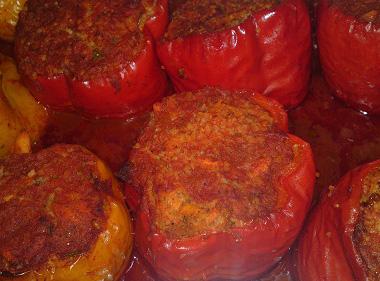פלפלים ממולאים בתנור