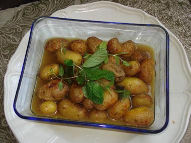 תפוחי אדמה גמדיים אפויים