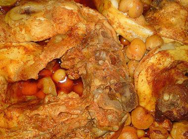 סטייק עוף עם גרגירי חומוס