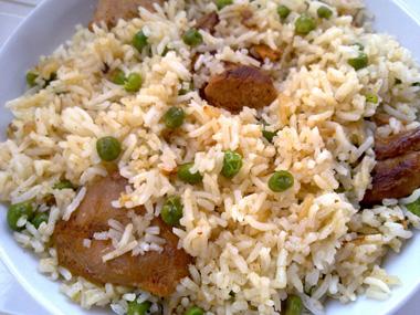 חזה הודו ואורז