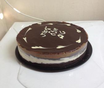 עוגת טורט במילוי 2 שכבות מוס
