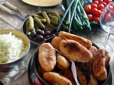 פירוז`קי - כיסוני בצק ממולאים בתפוחי אדמה