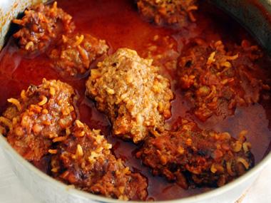 קציצות בשר עם אורז