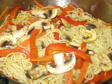 ספגטי עם ירקות
