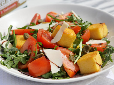סלט עגבניות ופולנטה